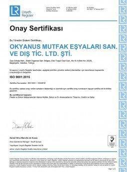 ISO 9001/2015 SERTİFİKASI