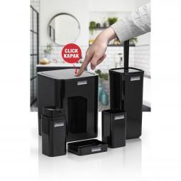 Kare 5'li Banyo Seti - Siyah
